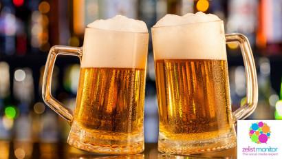 Cele mai vizibile branduri de bere in online si pe Facebook in luna martie 2019
