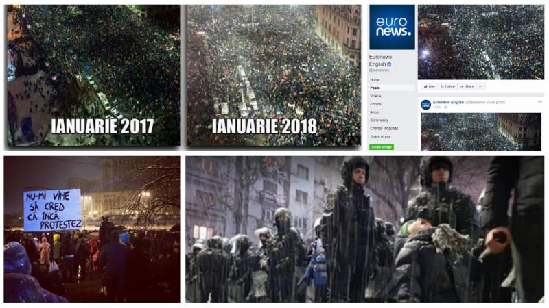 Un an de #rezist. 20 ianuarie 2018 în imagini și pancarte