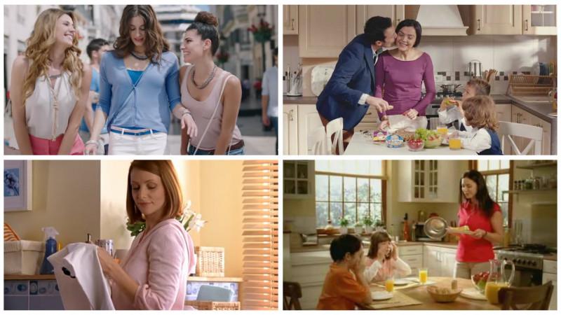 """15 nedumeriri în legătură cu femeile din reclame. Punctul 10: """"Femeile își petrec o mare parte a zilei încercând să curețe vasul WC"""""""