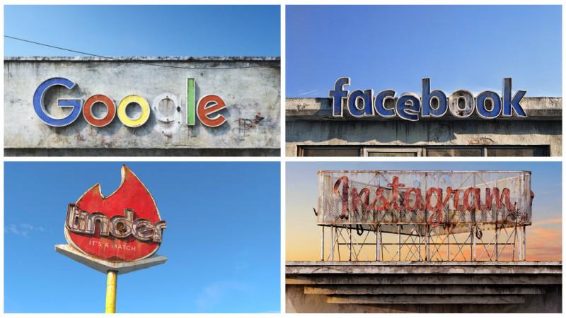 Un artist roman se joaca cu mortalitatea logo-urilor din Silicon Valley