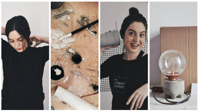 """Andra Raicu experimentează în ciment: """"M-a atras într-un mod ciudat. Este un material dur, dar dacă ajungi să-l cunoști, realizezi că îl poți stăpâni"""""""