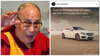 Nu mai poate omu' de social media nici sa citeze din Dalai Lama