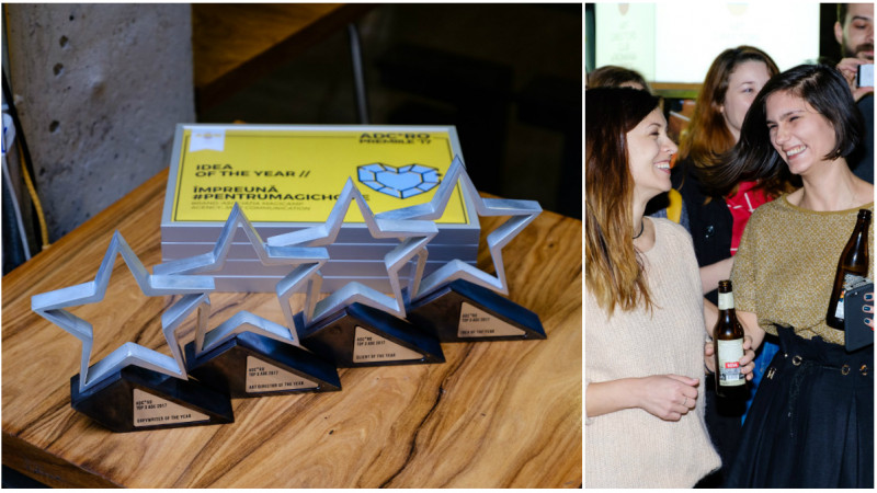 Miruna Dumitrescu si Raluca Matei - Copywriter si Art Director of the Year la Premiile Top 3 ADC*RO 2017