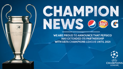 PepsiCo extinde parteneriatul global cu Liga Campionilor UEFA