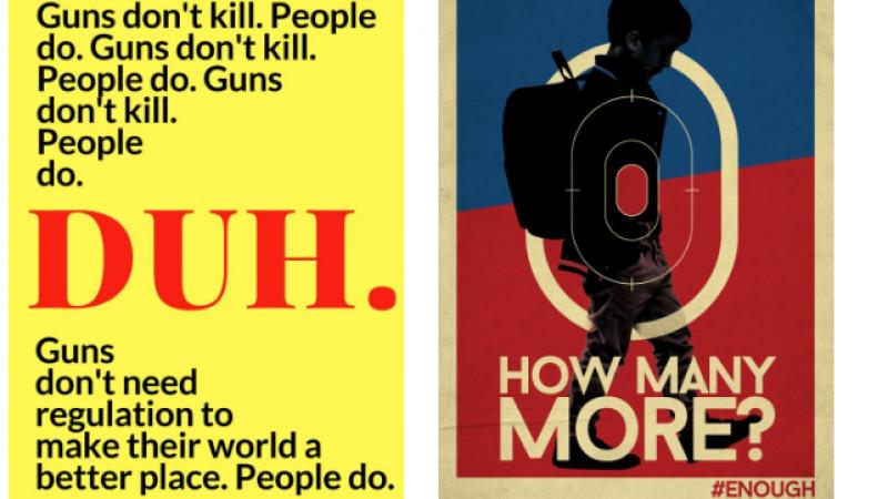 Creativii din SUA susțin mișcarea împotriva armelor