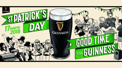 """Guinness dă startul petrecerilor de St. Patrick's Day în România sub conceptul """"Good Time for a Guinness"""""""