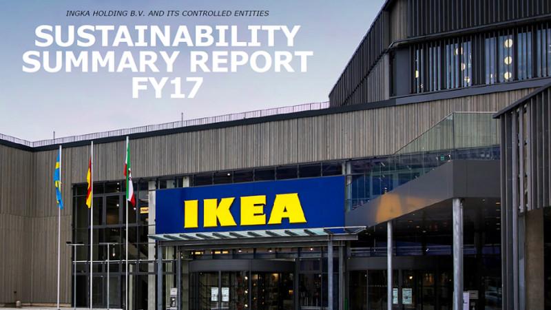 IKEA Group (INGKA Holding B.V. și entitățile sale controlate) lansează Sustainability Summary Report pentru anul financiar 2017
