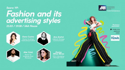 IAA Young Professionals organizeaza Seara YP: Fashion and its advertising styles