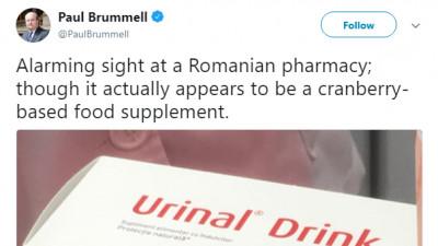 Ambasadorul Marii Britanii intră într-o farmacie din România