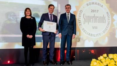 Purcari desemnat Brand Centenar la Gala Superbrands România 2018