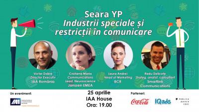 Comunicarea între dorințe și restricții la Seara YP dedicată industriilor speciale