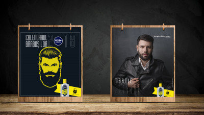 NIVEA MEN și FCB Bucharest au creat primul calendar al bărboșilor din România