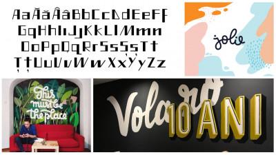[Artiști fontiști] Liviana Popa are proiecte de lettering diverse - de la postări custom de social media la branding și murale