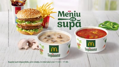 McDonald's - Meniu cu supa