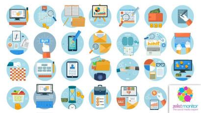 Cele mai vizibile branduri din categoria Servicii Online in online si pe Facebook in luna martie 2021