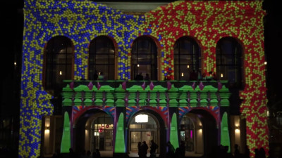 Șotron interactiv și video mapping by OnScreen la Spotlight, ediția a patra