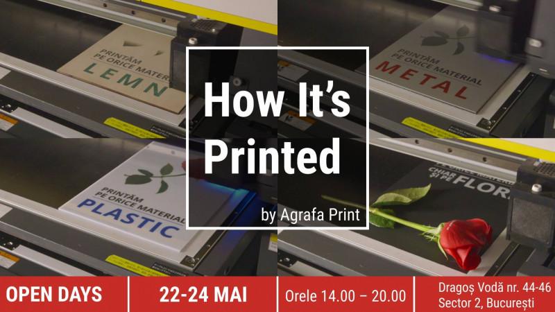 [Video] Agrafa organizează în București un eveniment inedit: Open Days - How it's Printed