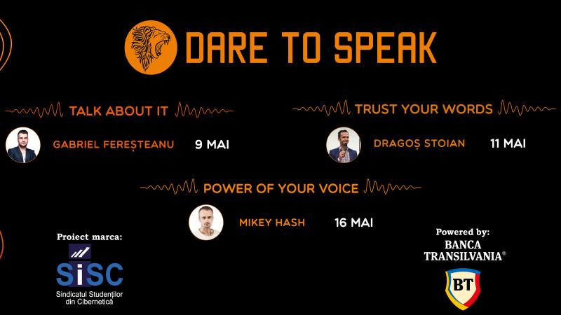 Forța se măsoară în cuvinte la Dare to Speak 2018