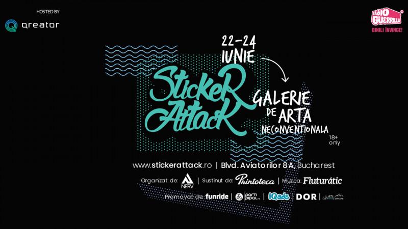"StickerAttack - Expoziția artei ""de buzunar"""
