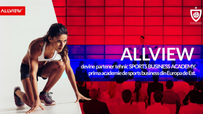 ALLVIEW devine partener tehnic al SPORTS BUSINESS ACADEMY, prima academie de sports business din Europa de Est