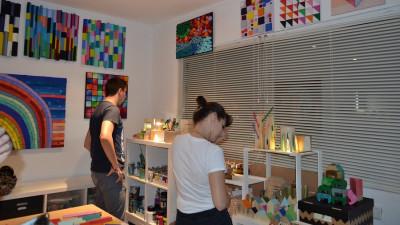Revista Atelierul: One Open Night pentru vizitatori nocturni, dornici de artă