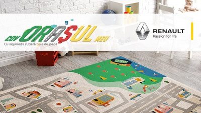 Renault lansează primele covorașe care îi ajută pe copiii din România să învețe despre siguranța rutieră