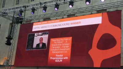 Golin, singura agenţie din România premiată cu Gold la două festivaluri internaţionale – SABRE Awards EMEA şi IAB MIXX Awards Europe 2018