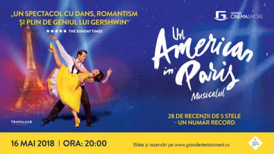 Un American în Paris – un musical internațional transmis de pe West End la Grand Cinema & More