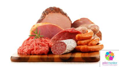 Cele mai vizibile branduri de carne&mezeluri in online si pe Facebook in luna martie 2021