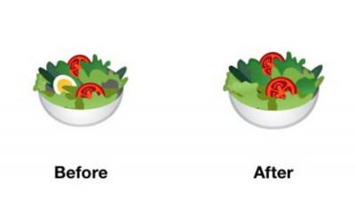 Emoji corect politic: salata fără ou