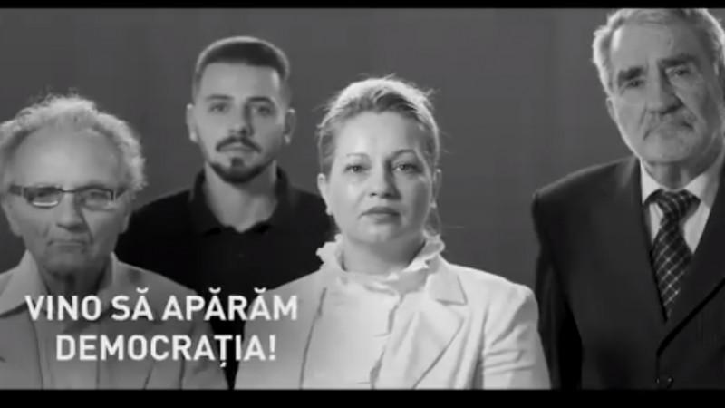 Spotul PSD care cheamă oamenii la miting este alb-negru, ca România