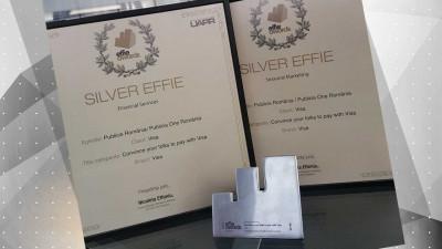 Visa și Publicis România celebrează 7 ani de colaborare prin 2 trofee Silver Effie 2018