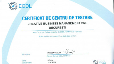 Cursurile de marketing digital livrate de agenția Creative Business Management intra sub acreditarea internațională a ECDL