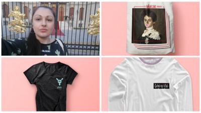 Oana Dorobanțu și tricourile ei feministe: Am tot văzut oameni cu inscripții KINDNESS, ANGEL, TAKE IT EASY, care țipau la alții