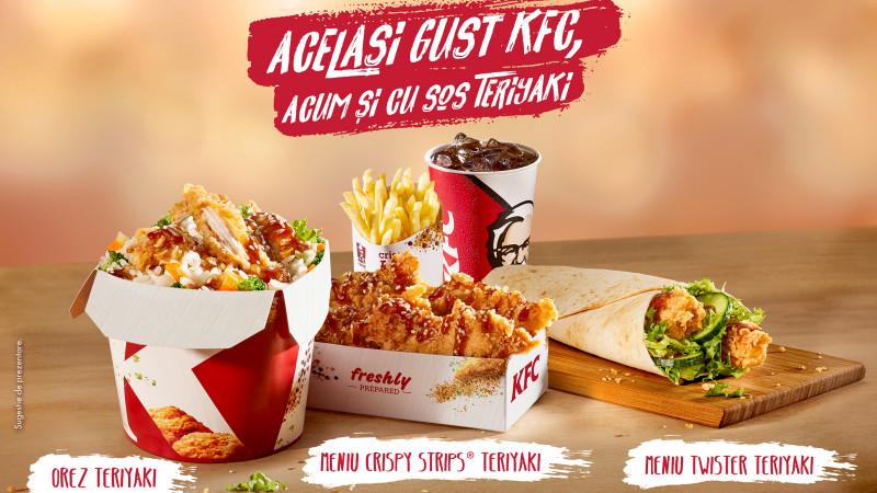 KFC România lansează în premieră o nouă platformă de produse în ediţie limitată, care au la bază sosul Teriyaki