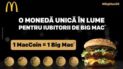 McDonald's lansează MacCoins, 5 monede în ediție limitată dedicate burgerului Big Mac