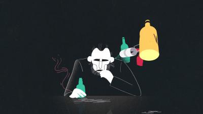 Pusa pe muzica si animatie, berea lui Bukowski nu se trezeste niciodata