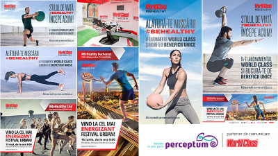 WORLD CLASS comunică #BeHealthy, cu o nouă strategie de comunicare și marketing, marca Perceptum
