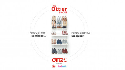 """Otter dă startul campaniei de strângere de donații pentru Crucea Roșie Română, """"The Otter Shoes"""""""