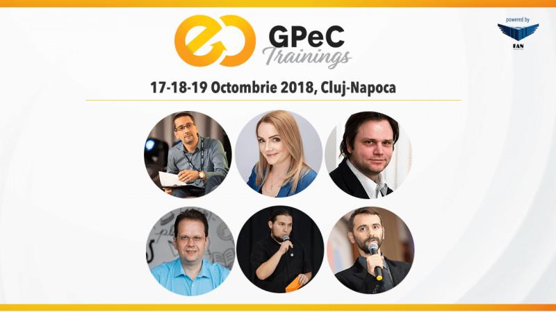 Ultima săptămână de înscrieri Early-Bird la GPeC Trainings 17-18-19 octombrie, Cluj-Napoca