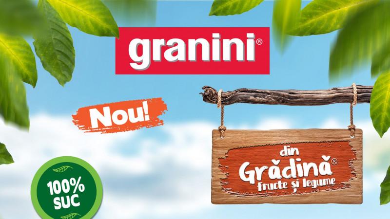 """Granini lansează combinația de sucuri de legume și fructe cu conținut de suc 100% - """"Granini din grădină"""""""