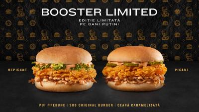 Booster Limited, noul sandwich în ediţie limitată cu pui #pebune, soseşte mâine în toate restaurantele KFC