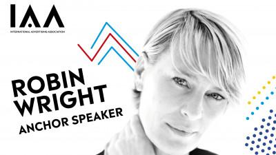 """Robin Wright, renumita actriță de la Hollywood, în premieră în România în calitate de star speaker la Conferința Globală IAA """"Creativity 4 Better"""""""