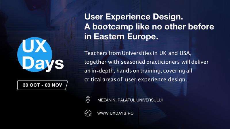 UX Days: primul boot camp intensiv de User Experience Design din România