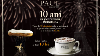 Brutăriile PAUL aniversează 10 ani de joie de vivre în România