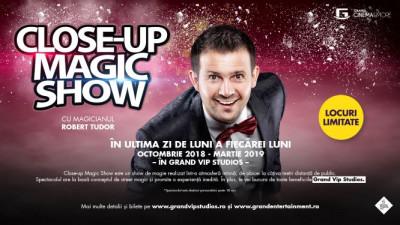 Magicianul Robert Tudor sfidează imposibilul într-un spectacol incredibil de magie la Grand Cinema & More