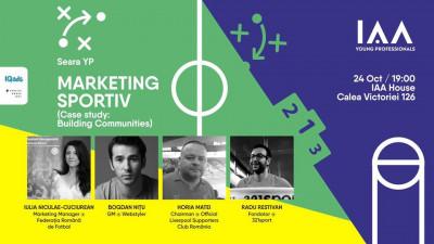 Pasionații de sport din marketing și comunicare sunt așteptați la Seara YP dedicată Marketingului Sportiv