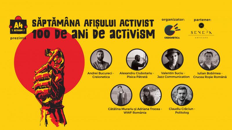 Săptămâna Afișului Activist. 100 de ani de activism