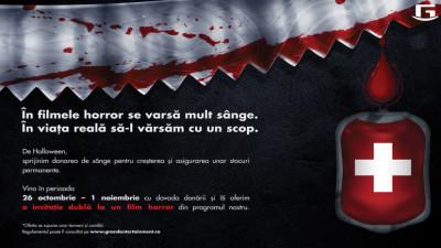 Donatorii de sânge văd gratuit filme de groază la Grand Cinema & More