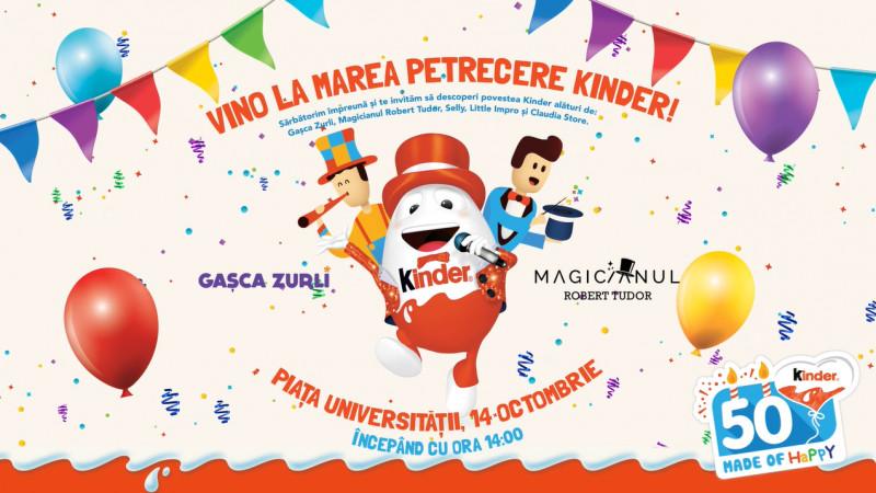 Pe 14 octombrie, Kinder sărbătorește 50 de ani înconjurat de copiii de toate vârstele